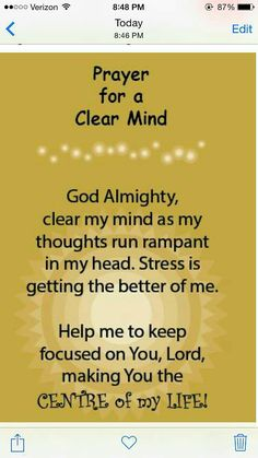 Prayer quotes: Prayer to Clear My Mind - Acts – This being so, I myself always strive to have a conscience without offense toward God and men. Prayer Scriptures, Bible Prayers, Faith Prayer, Prayer Quotes, My Prayer, Spiritual Quotes, Bible Quotes, Prayers For Men, Prayer For Wisdom