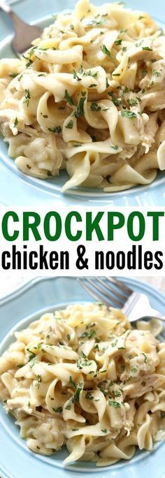 Crockpot Chicken and Noodles - a comforting, home cooked meal made right in your slow cooker. This is a family favorite!