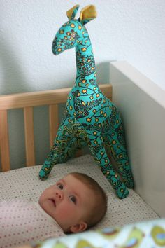 Stuffed Giraffe - similar pattern to the one my Mom made me. I need to try to make one for P!
