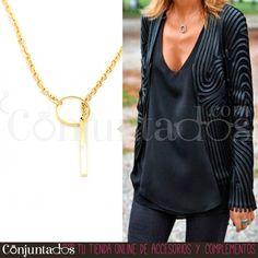 Adorna tu escote con elegancia y sencillez con nuestro precioso #collar dorado con aro ajustable ★ Precio: 9,95 € en http://www.conjuntados.com/es/collares/collar-dorado-con-aro-ajustable.html ★ #novedades #necklace #joyitas #jewelry #bisutería #bijoux #fashion #accesorios #complementos #moda #estilo #style #regalos #detalles #GustosParaTodas #ParaTodosLosGustos