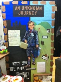 Evacuees world war 2 display Teaching Displays, Class Displays, School Displays, Library Displays, Classroom Displays, Classroom Organisation, Year 6 Classroom, History Classroom, Ks2 Classroom