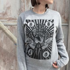 moth WOMENS sweater mystical beetles insect tarot sweatshirt for woman palmistry hand astrology print fortune telling steampunk hipster goth by hardtimesdesign on Etsy https://www.etsy.com/listing/250431535/moth-womens-sweater-mystical-beetles