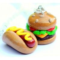 Handmade Hot Dog and Cheeseburger Best Friend Necklaces  (Also Great for Couples!) ... Price: $34.99 ... Where to Buy: Alwaysfits.com ... ♥ the #giftdetectives