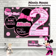 Free Printable Mickey Mouse Coloring Pages   H   M Coloring Pages     OH Twodles Minnie Mouse Birthday Invitation Minnie Mouse Birthday Minnie  Mouse Birthday Invitation