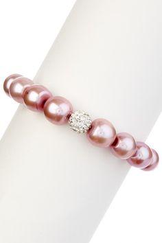 Pink Freshwater Pearl Pave CZ Bracelet que belleza natural siempre desde nina he querido tener unas asi y que sean de verdad!