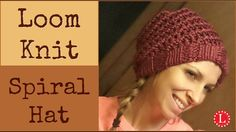 Loom knitting hats - Spiral stitch on a Round 42-peg loom. Learn the U-wrap and e-Wrap knit stitches and a cool trick to keep you on track. Great project for...