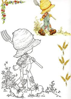 Lots of lovely images from Sarah Kay Coloring Book Pages, Printable Coloring Pages, Sara Kay, Creation Art, Holly Hobbie, Digi Stamps, Copics, Coloring For Kids, Line Drawing