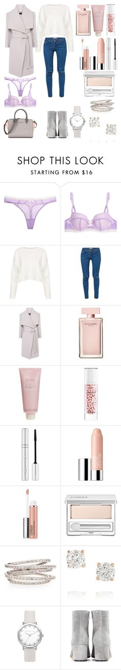"""""""Без названия #3468"""" by southerncomfort ❤ liked on Polyvore featuring Elle Macpherson Intimates, Topshop, Kori, Narciso Rodriguez, Chantecaille, Guerlain, Zelens, Clinique, KC Designs and Anita Ko"""
