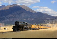 "Wyoming Railroad Train Postcard at Dale - Union Pacific 4-8-8-4 /"" Big Boy /"""