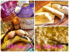Gâteau à la banane microondes - un brin de......tulipe_isa Brin, Camembert Cheese, Desserts, Photos, Food, Tulip, Tailgate Desserts, Deserts, Pictures