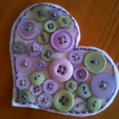 Another felt button heart