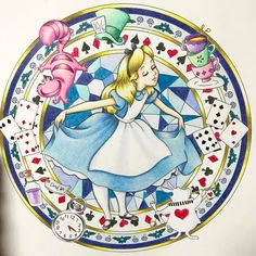 今日は#素敵便 のご紹介ですっ❤️ 蒼さん( @ao_yanogawa )からとっても素敵なアリスの塗り絵が届きましたっ✨✨ Liveをこの前に拝見していた時に塗っていたもので実はワクワクしながら待ってました❤️まわりの美しい金色、アリスのお顔や髪色、ドレスの質感!とってもとっても素敵なところばかりでうっとりですっ(๑>◡