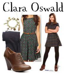 """""""Clara Oswald"""" by companionclothes ❤ liked on Polyvore featuring Glamorous, Comptoir Des Cotonniers, Envy and Forever 21"""