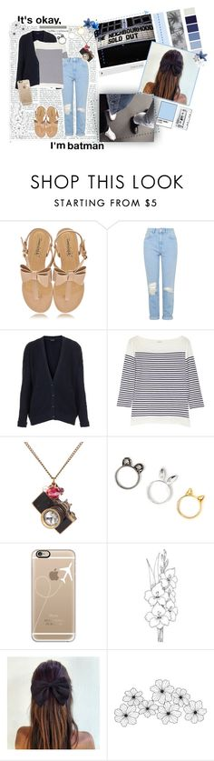 """""""why don't you be the writer, and decide the words I say..."""" by carmenw-42 ❤ liked on Polyvore featuring Timeless, Topshop, J.Crew, Casetify, Identity, WALL, Hudson Jeans, Veras and PAM"""