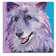 Puppy Dog by Pat Saunders-White Painting Print on Wrapped Canvas