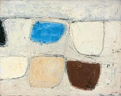 William Scott, Brown, Blue and Grey, 1959, Oil on canvas, 41 × 51 cm / 16¼ × 20 in, Private collection Joan Miro, Abstract Shapes, Abstract Art, Sean Scully, Francis Picabia, Sculpture Painting, American Art, Still Life, Oil On Canvas