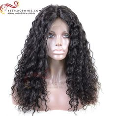150% Density Deep Wave Indian Remy Hair Glueless Lace Front Wigs [SW083]