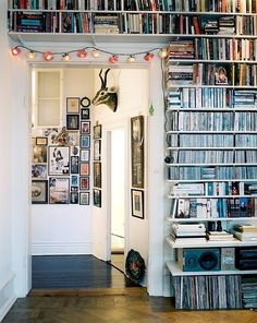 manic monday: endless bookcase for music & books! (via ...