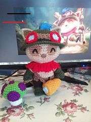 Teemo – League of Legends pattern by Bobbi W. - League of Legends Manta Crochet, Diy Crochet, Crochet Toys, Amigurumi Free, Crochet Patterns Amigurumi, Nerd Crafts, Diy And Crafts, Crochet Penguin, Stuffed Toys Patterns