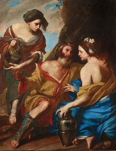 Lot and his daughters, signed with an entwined monogram lower right: EQ./NE…, oil on canvas, x cm, framed. Dorotheum Old Master Paintings auction. Annibale Carracci, Artemisia Gentileschi, San Giacomo, St John The Evangelist, Wilhelm Ii, John The Baptist, Caravaggio, Old Master, Art Auction