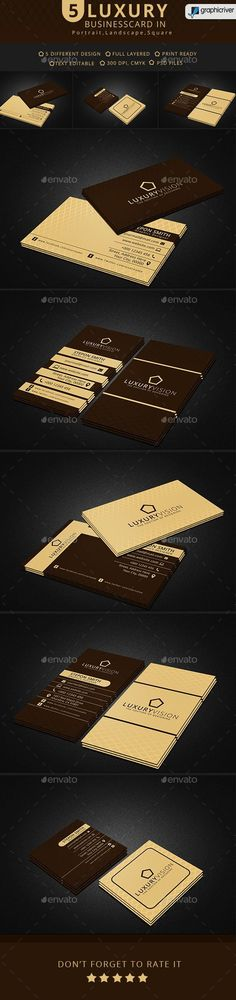 Luxury Vision Business Card. #Luxury #businessCard #gold #fvmgraphics