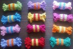 Estas balas podem ser usadas como sachês perfumados em gavetinhas infantis...