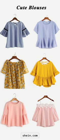 Cheap blouses a classic in women's fashion cheap and cheerful blouses! Cute Cheap Shirts, Cute Cheap Outfits, Cheap Blouses, Cute Blouses, Blouse Styles, Blouse Designs, Blouse Patterns, Diy Clothes, Clothes For Women