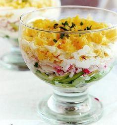 Салат с колбасой и крабовыми палочками рецепт с 3