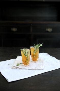 Homemade Maracuja Lemon Lime Rosemary Iced Tea. More is up on thedashingrider.com