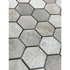 Cement Tiles Bathroom, Hexagon Tile Bathroom Floor, Hexagon Tiles, Wall And Floor Tiles, Bathroom Flooring, Marble Mosaic, Mosaic Wall, Entry Tile, Color Tile