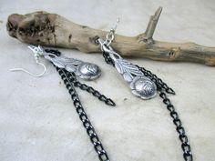 vintage earrings spoon earrings flower earrings earrings by boele