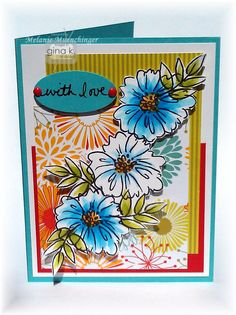 Using A Year of Flowers 2, and new patterned papers and products form the StampTV kit Spring Parade. Hands, Head and Heart