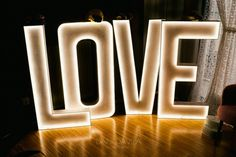 LOVE luminoso Marquee Lights, Channel Letters