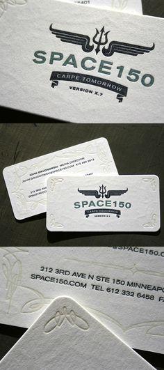 Space 150′s v17 LetterPress Business Card