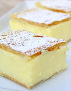 Vanilla slice. This looks really delicious – and so simple!