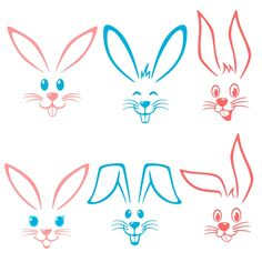 Easter Bunny Face Svg Cuttable Designs