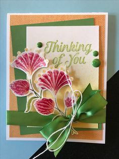 Mystic Romance collection from Fun Stampers Journey | DIY floral thinking of you handmade card