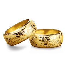 Traditional Chinese Wedding Gold Bangles By Luk Jewellery