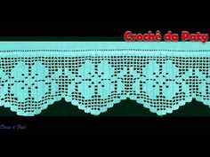 Crochet Border Patterns, 16th Birthday, Crochet Doilies, Diy And Crafts, Projects To Try, Make It Yourself, Knitting, Sewing, Youtube