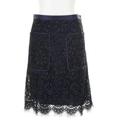 JASON WU black lace overlay Skirt ($2,085) ❤ liked on Polyvore