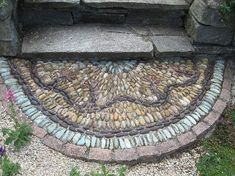 Nice 40 Gorgeous Entryway with River Rocks https://toparchitecture.net/2017/11/24/40-gorgeous-entryway-river-rocks/