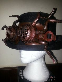 Steampunk Tentacle goggles. Hand stitched by Harlotsandangels