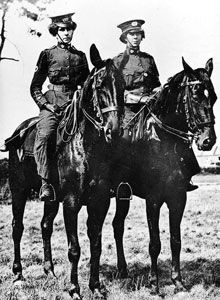 The most famous pioneering women's unit before the First World War, was the First Aid Nursing Yeomanry (FANY). The idea of an army officer, Captain E.W. Baker, in 1907, the FANY were originally supposed to act as a mounted link between care on the battlefield and military hospitals.: