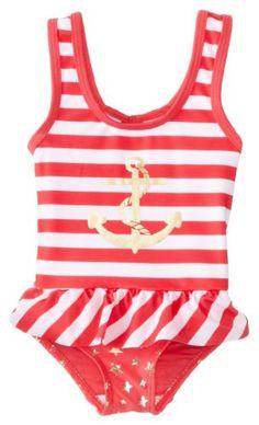 8b82d8c252d0d Rugged Bear Little Girls Nautical Sailing One Piece Swimsuit