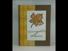 Stampin' Up! Masculine card with fall colors - YouTube