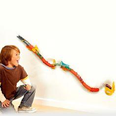 Hot Wheels Toys > 4y-12y > Wall Tracks Flame Drop Track Set | VIDEO
