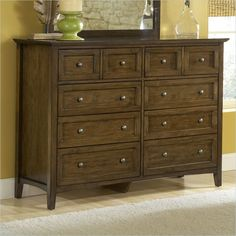 Lowest price online on all Modus Furniture Paragon Eight Drawer Dresser in Truffle - 4N3582