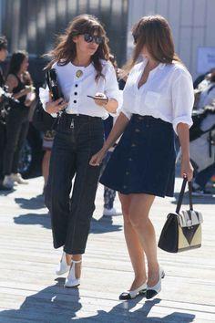 Miroslava Duma and Nasiba Adilova. Photo: Emily Malan/Fashionista
