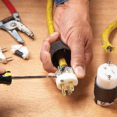 How to Repair a Cut Extension Cord  All you need is a new plug  If you accidentally cut your extension cord or power tool cord, save it by adding a new plug and receptacle to the two pieces—a safer solution than a splice.
