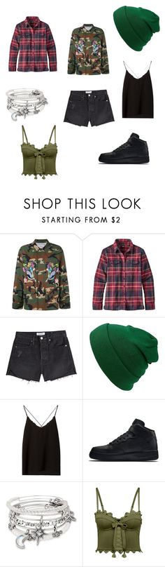 """Androgynous 1117"" by audjvoss ❤ liked on Polyvore featuring Forte Couture, Patagonia, Frame, Massimo Dutti, NIKE, Alex and Ani and Puma"